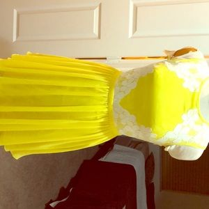 A ted baker yellow dress